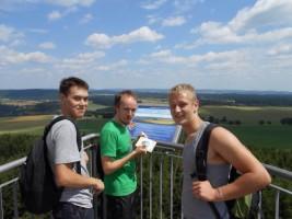 Semjon s kamarády na rozhledně Rosička u obce Sázava na Žďársku