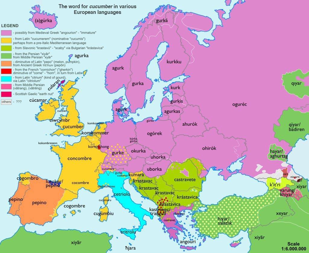 etymologická mapa Evropy_okurka
