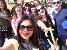 zahraniční studenti na výletě