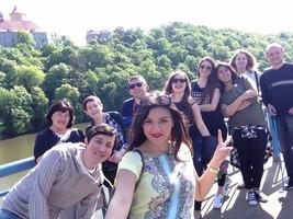 studenti na hradě Veveří