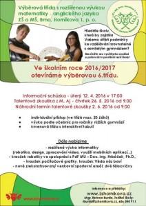 Výběrová třída na ZŠ Horníkova